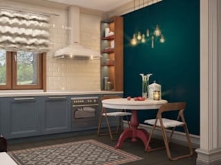Country style kitchen by E_interior Country