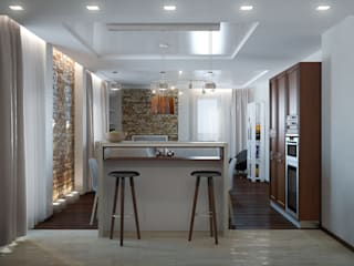Cocinas de estilo ecléctico de Center of interior design Ecléctico
