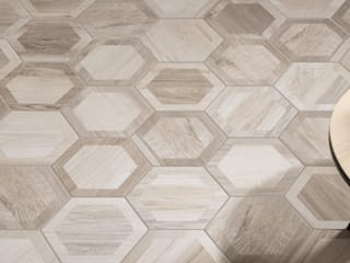 Hexagon Wood by The Baked Tile Company Сучасний