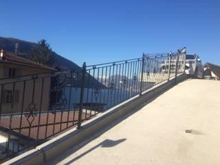 Lugano (CH) - Individuell Bath Zaunanlage und Frauendorf Tor mit Unterflur Torantrieb:   von Zaunsystem - Schmiedeeisen Hersteller