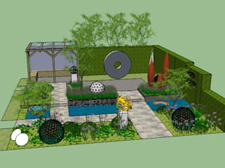 Chelsea Flower Show 2014: David Harber sculpture garden:   by Susan Dunstall Landscape & Garden Design