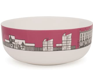 Eclectic Avenue cereal bowl - dark pink:   by People Will Always Need Plates
