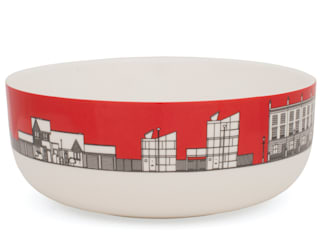 Eclectic Avenue cereal bowl - pillar box red:   by People Will Always Need Plates