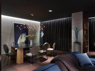 Minimalist living room by INCUBE Алексея Щербачёва Minimalist