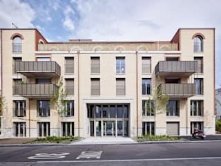 Westfassade:  Häuser von Käferstein & Meister   Dipl. Architekten ETH BSA SIA