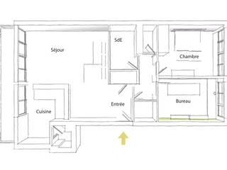 Plan de l'appartement: Salle à manger de style  par Ingrid Martin Décoration