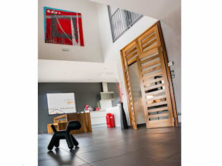 Tableau pour une villa contemporaine - projet N°57 Couloir, entrée, escaliers modernes par Clonik Art Moderne