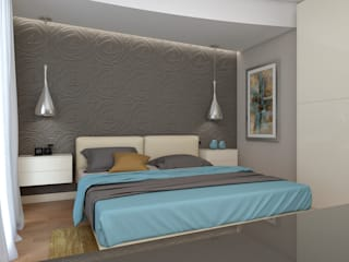 Rendering #2: Camera da letto in stile  di Studio 7sei