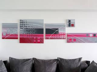 Tableau Contemporain polyptyque- projet N°64 par Clonik Art Moderne