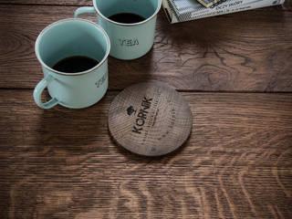 Postarzany blat, impregnowany woskiem: styl , w kategorii  zaprojektowany przez Kornik