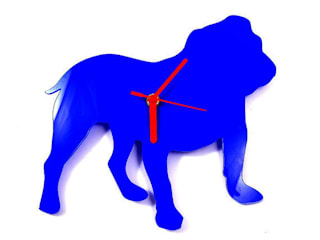English Bulldog Silhouette Clock:   by BooBoo and Ted