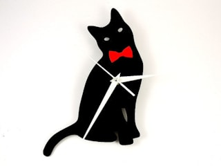 Cat with Bow Tie Clock:   by BooBoo and Ted