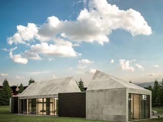 Dom z widokiem na Beskidy: styl , w kategorii Domy zaprojektowany przez 3XEL Biuro projektowe