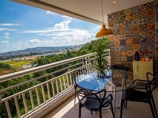 Apartamento Tamboré Varandas, alpendres e terraços modernos por Le Haus - Arquitetura +Design Moderno