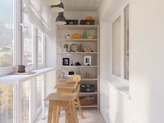 Terrasse de style  par Мастерская дизайна Welcome Studio
