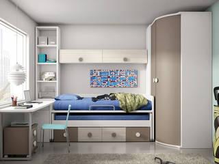 Dormitorio juvenil.:  de estilo  de Muebles San Francisco Madrid