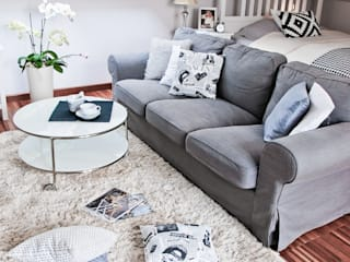 Livings de estilo escandinavo de YNOX Architektura Wnętrz Escandinavo