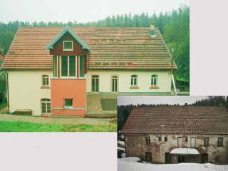 Turbinenhaus, vorher und nachher:   von Architektur con Terra