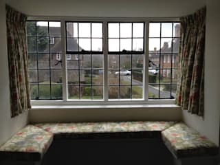 Bay Window William Morris Sill length  Curtains :   by WAFFLE Design