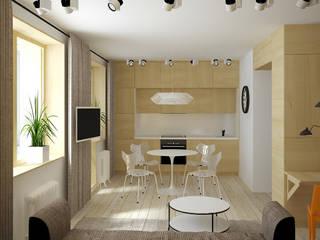 квартира трансформер (проект): Кухни в . Автор – artemuma - архитектурное бюро