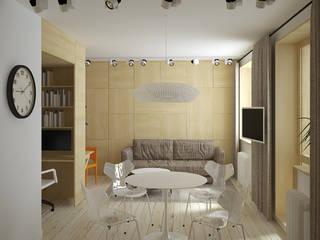 квартира трансформер (проект): Гостиная в . Автор – artemuma - архитектурное бюро