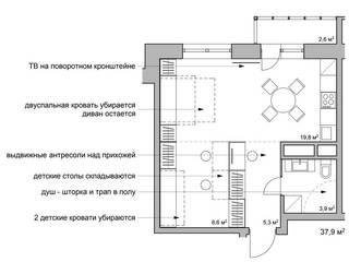 квартира трансформер (проект):  в . Автор – artemuma - архитектурное бюро