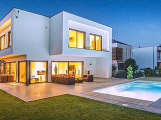Hausentwurf Herausragende Kuben OKAL Haus GmbH Moderne Häuser