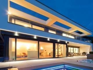 Hausentwurf Villa im Bauhausstil OKAL Haus GmbH Moderne Häuser