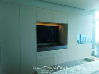 DIseño exclusivo para suite Carmen Fernandez Interiorismo y Eventos Dormitorios de estilo minimalista
