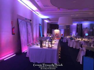 Eventos Carmen Fernandez Interiorismo y Eventos Salones de estilo minimalista