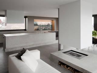 Haus Seesicht I:  Wohnzimmer von Blue Architects