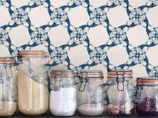 IHIA Wallpaper - Minuit homify Walls & flooringWallpaper Paper Blue