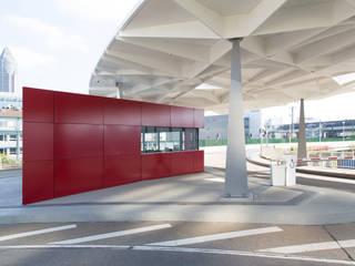 Messe Frankfurt – Tor Nord, Ovaldach mit Wachgebäude:  Veranstaltungsorte von Ingo Schrader Architekt BDA