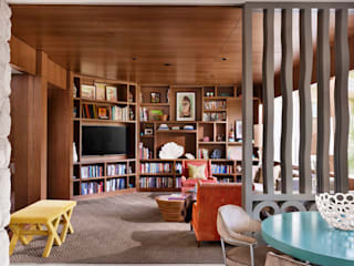 Maywood Residence Hugh Jefferson Randolph Architects Modern style study/office