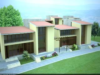 Casas estilo moderno: ideas, arquitectura e imágenes de G-render Moderno
