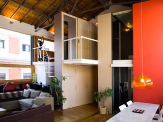ห้องนั่งเล่น โดย Beriot, Bernardini arquitectos, อินดัสเตรียล