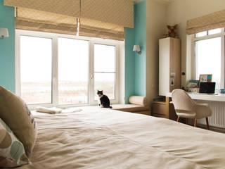 Дом в КП Онегин Парк Спальня в скандинавском стиле от projectorstudio Скандинавский