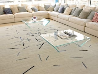 Deirdre Dyson STICK and BAR rug designs Deirdre Dyson Carpets Ltd Modern living room