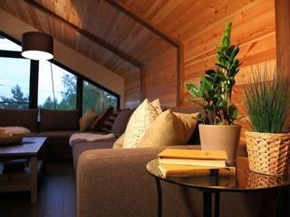 Элитный загородный котедж с мебелью мехо: Гостиная в . Автор – MEXO