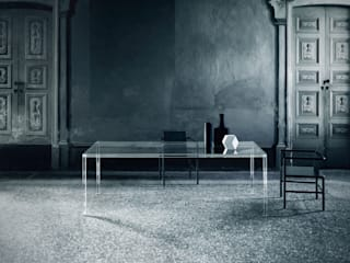 ​Luminous Glass Dining Table :   by Glassdomain