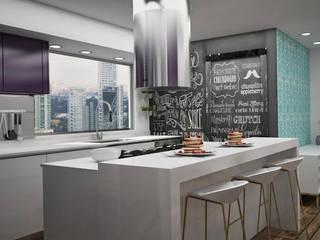 modern Kitchen by Citlali Villarreal Interiorismo & Diseño