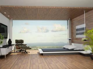 Recamara y Vestidor Moderno: Recámaras de estilo  por Citlali Villarreal Interiorismo & Diseño