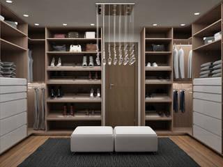 Vestidores de estilo moderno de Citlali Villarreal Interiorismo & Diseño Moderno