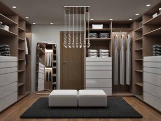 Closets de estilo  por Citlali Villarreal Interiorismo & Diseño