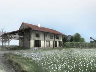 Rénovation d'une grange en Picardie Maisons rurales par Hors-Champs, Laurence Cheret Architecte Rural