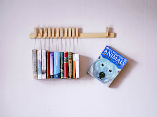 Book rack in Ash agustav Living roomShelves