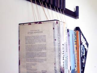 Book rack in Fumed Oak agustav Living roomShelves