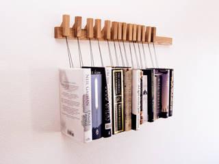 Book rack in Oak agustav Living roomShelves