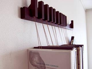 Book rack in Wenge agustav Corridor, hallway & stairsStorage