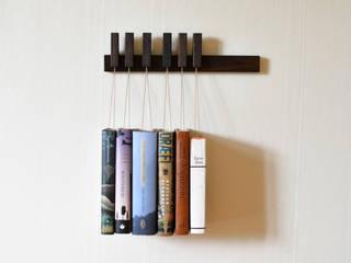 Mini book rack in Fumed Oak agustav Living roomShelves